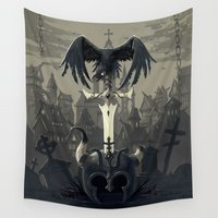 diablo Wall Tapestries featuring Dark Times by Freeminds