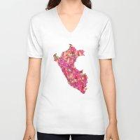 peru V-neck T-shirts featuring Peru by Ursula Rodgers