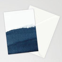 Indigo Art / Minimal Navy Print Stationery Cards