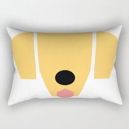 Golden Rectangular Pillow