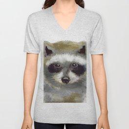 Golden Forest Raccoon Unisex V-Neck