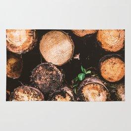 Rustic Firewood Rug