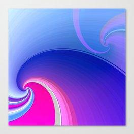 Ride the Wave (purple) Canvas Print