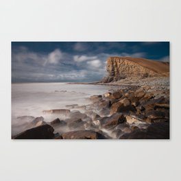 The 'Welsh Sphinx' at Nash Point Canvas Print