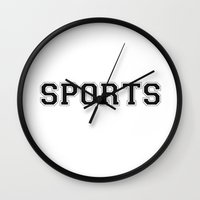sports Wall Clocks featuring SPORTS by snaticky