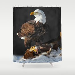 Bald Eagle and Deer Shower Curtain
