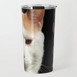 Dramatic Cat Travel Mug