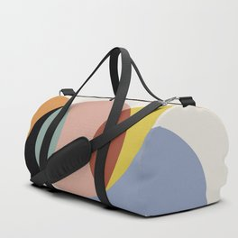 Geometric Harmony - Vintage Rainbow Colors Duffle Bag