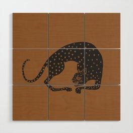 Blockprint Cheetah Wood Wall Art