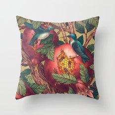 Ragged Wood Throw Pillow