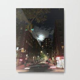 Washington Heights Lit Metal Print
