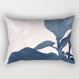 Blush Blue Fiddle Leaf Dream #1 #tropical #decor #art #society6 Rectangular Pillow