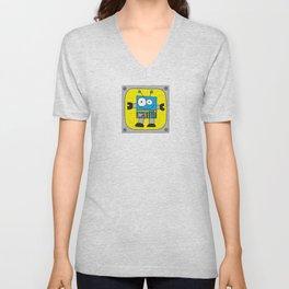 Rectangle Robot Unisex V-Neck