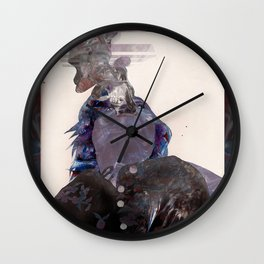 Smoking Lady Wall Clock