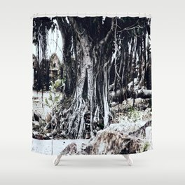 Tree Faces Shower Curtain