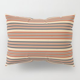 Aged Red, White, and Blue Stripes Pillow Sham