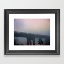 Misterious bridge Framed Art Print