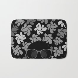 Afro Diva Black & Gray Bath Mat