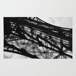 Eiffel Tower Base Detail in Black and White Rug