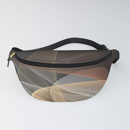 Brown, Beige And Gray Abstract Fractals Art Fanny Pack