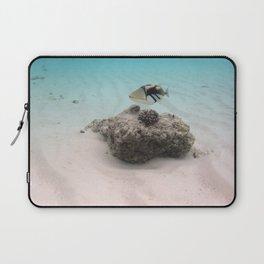 Tropical Maldives White Sand Lagoon Coral Fish Laptop Sleeve