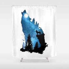 The Howling Wind Shower Curtain