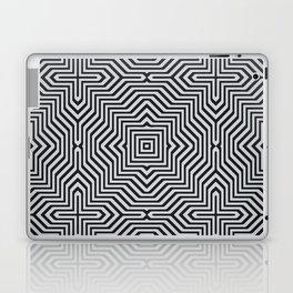 Minimal Geometrical Optical Illusion Style Pattern in Black & White Laptop & iPad Skin