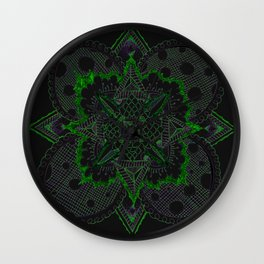 Divine Intention 5: Solar Green Wall Clock