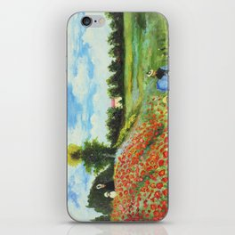 Claude Monet - Poppy Field at Argenteuil iPhone Skin