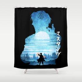 Minimalist Silhouette Roy Shower Curtain