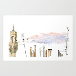 Italian Chimneys Art Print