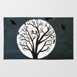 Peaceful Moon Night Gathering Rug