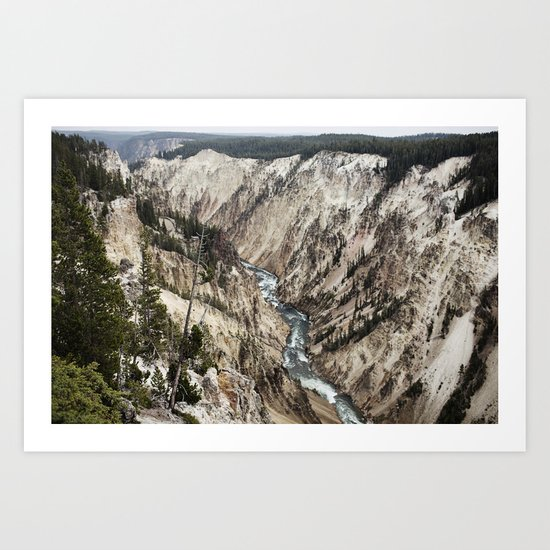 YELLOWSTONE CANYON Art Print