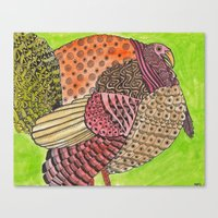turkey Canvas Prints featuring Turkey by Adrienne Price