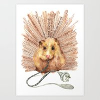 hamster Art Prints featuring Hamster by Creative Stace