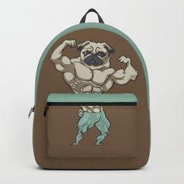 Pug Bodybuilder Backpack