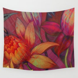 """Retro Giant Floral Pattern"" Wall Tapestry"