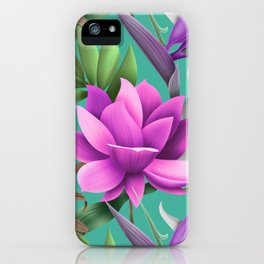 The Glamour Lotus iPhone Case