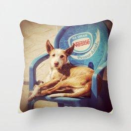 Easy Chair Throw Pillow