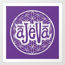 Ajeva Logo Purple Art Print