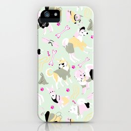 Spitz Style Pink iPhone Case