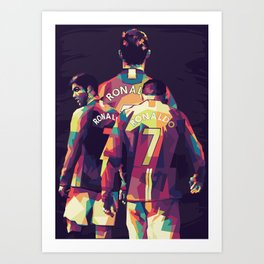 Ronaldo on WPAP Pop Art Portrait Art Print