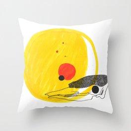 Desert Sun Skeleton Throw Pillow