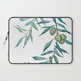 green olive leaf watercolor Laptop Sleeve