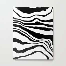 Pattern zebra black and white Metal Print