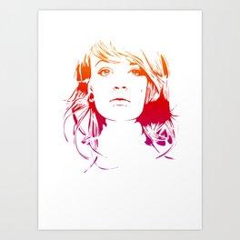 TattooGirl Art Print