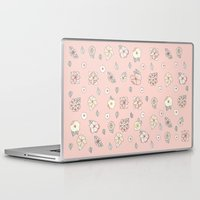 leah flores Laptop & iPad Skins featuring Flores by Tuky Waingan