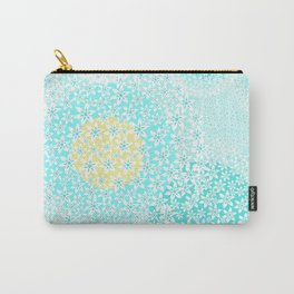 Winter sun, floral snowfall Carry-All Pouch