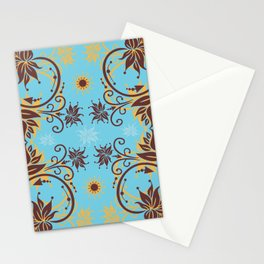 Abstract floral ornament Stationery Cards