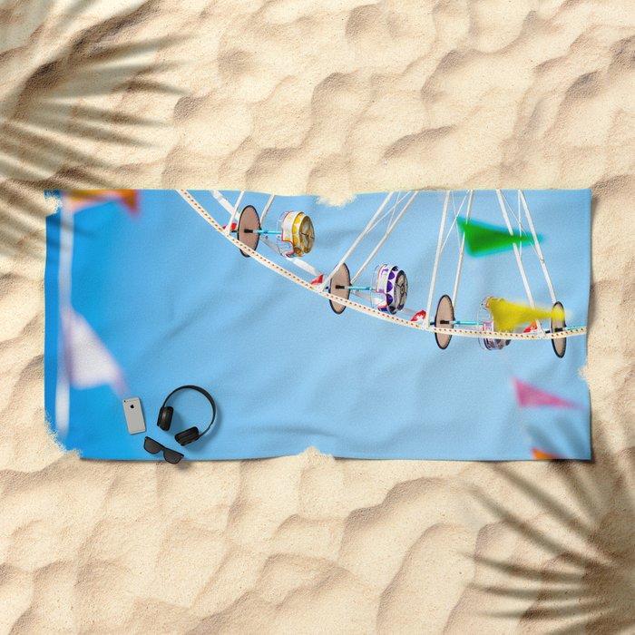 Manege sky colour Beach Towel